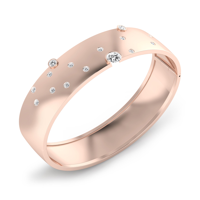 Bracalets en or rosa 18k 17 diamants