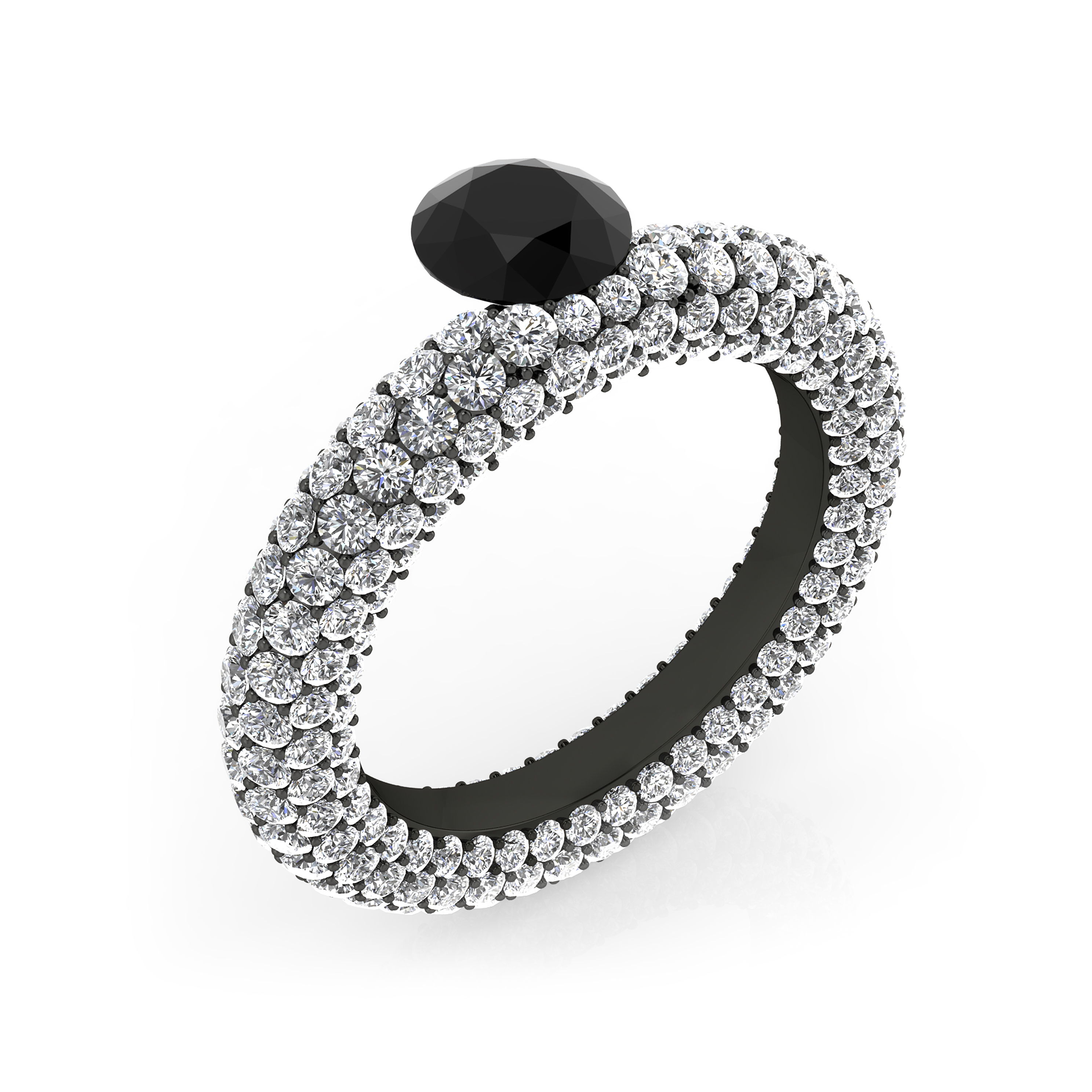black diamonds rings