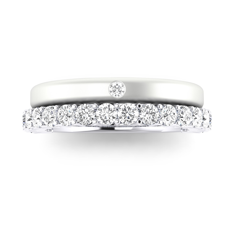 bf75f591ac2f ... C012+AC055 detaill image como combinar anillo de compromiso con alianza  de boda ...