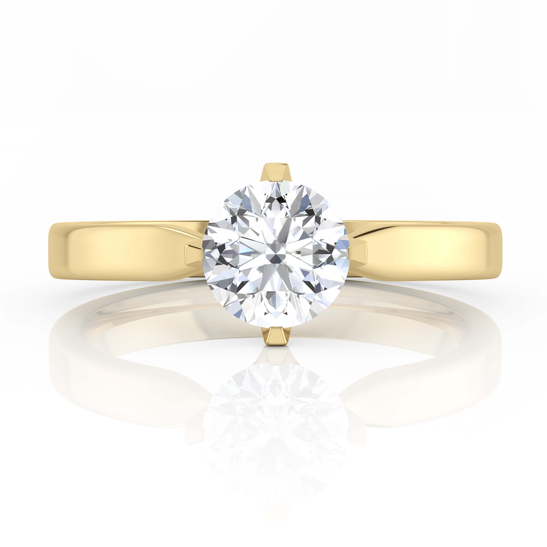Fotos de anillos de compromiso en oro 14