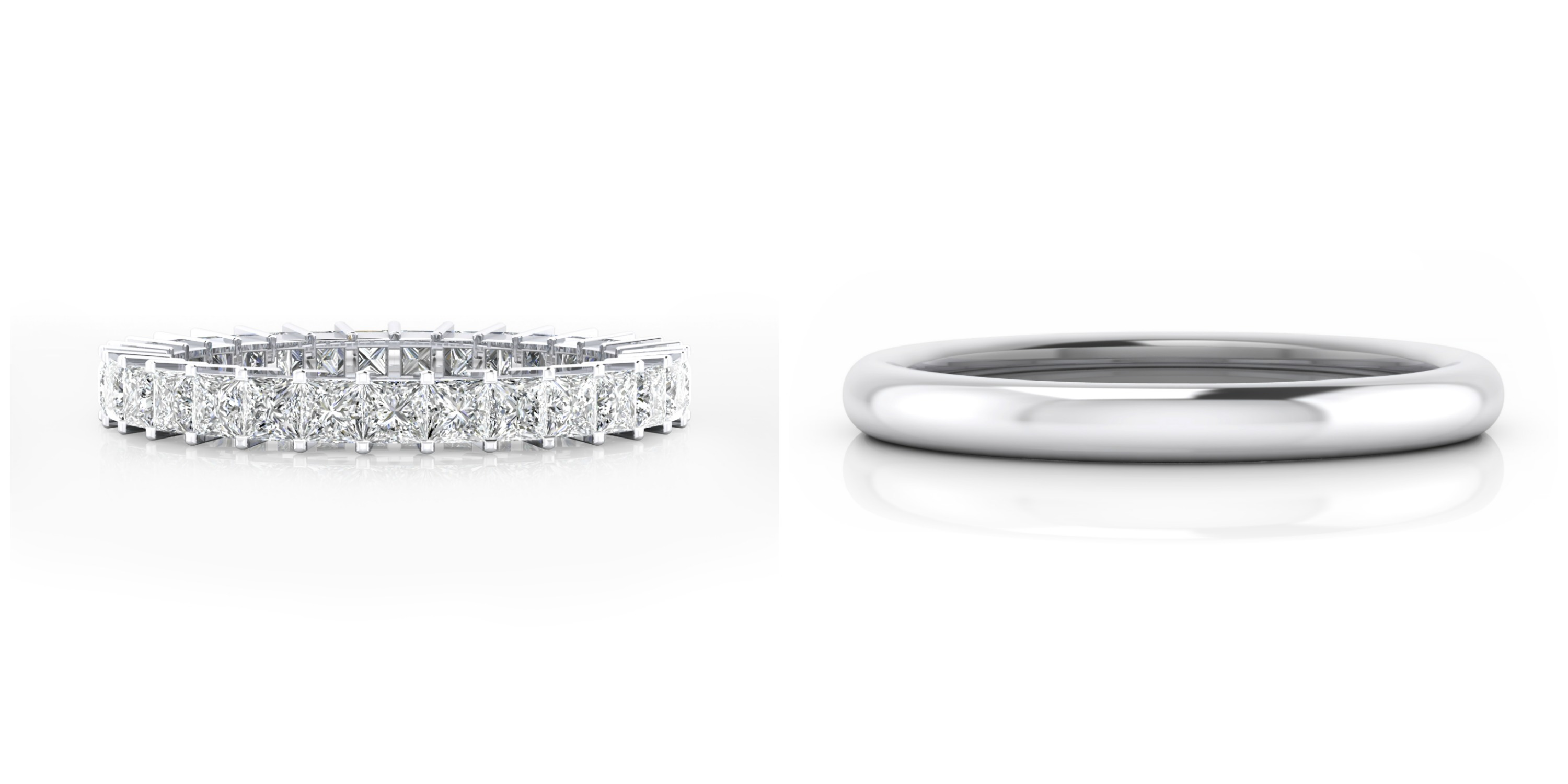 diamonds love channel band the best rings set with princess cut jewellery my wedding are pin matching ring engagement