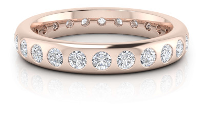 PINK GOLD WEDDING RINGS