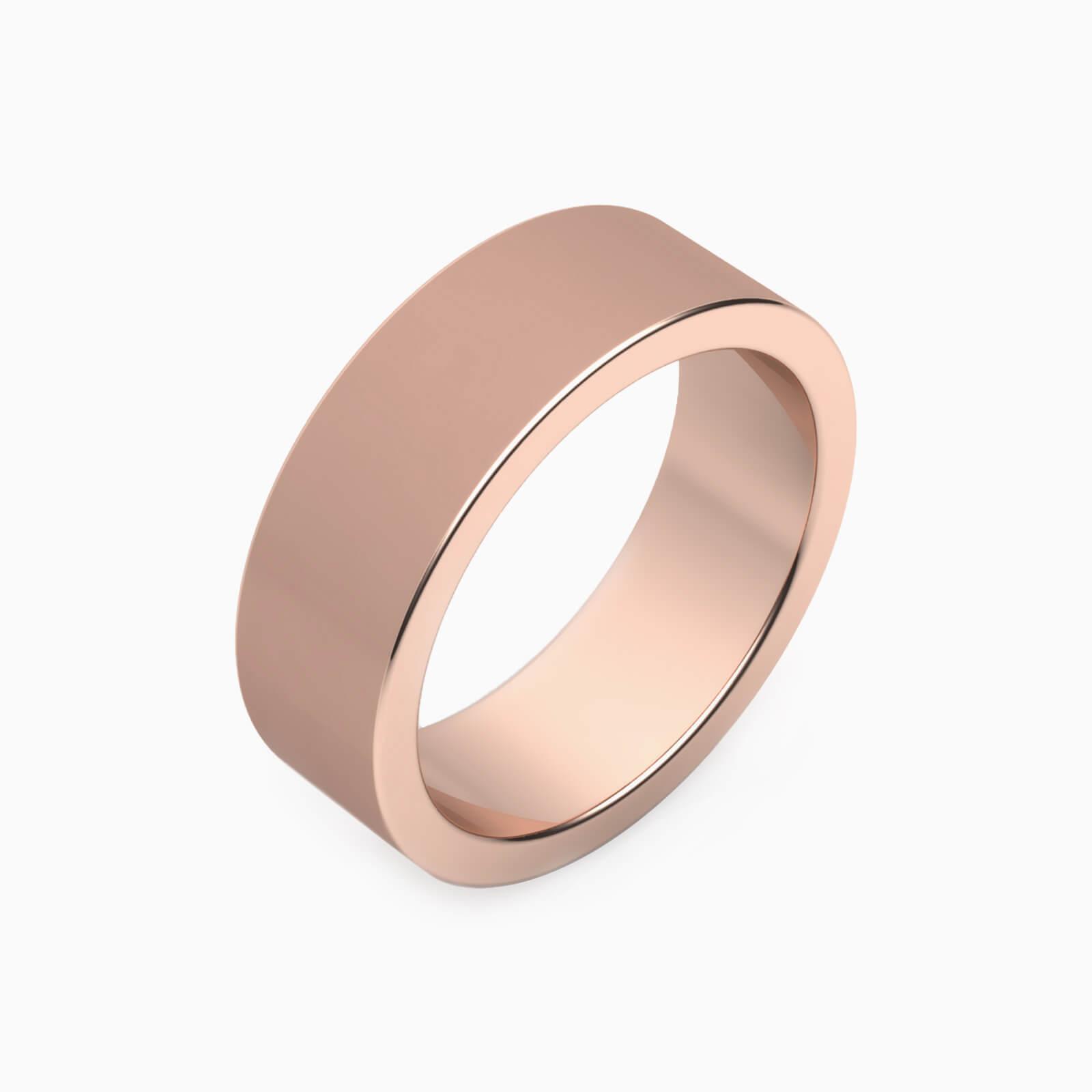 pink gold men wedding rings