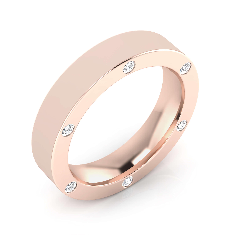 pink gold wedding rings