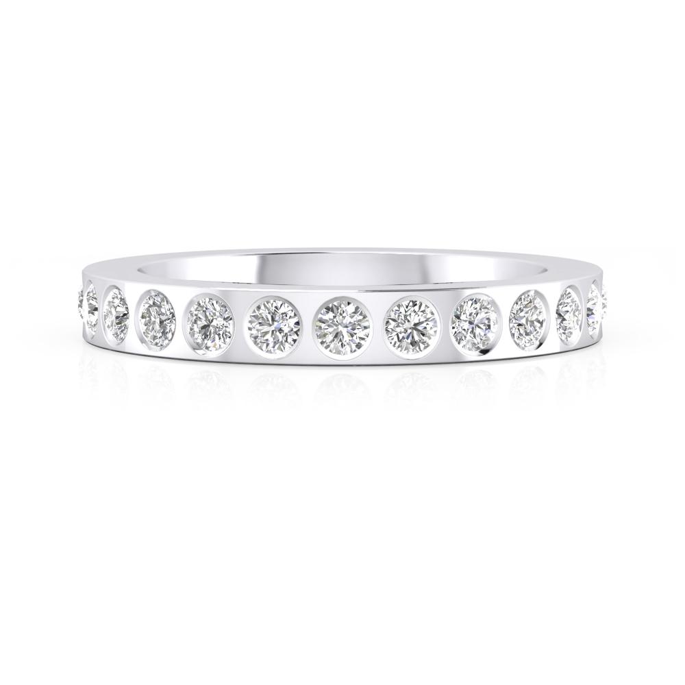alianza de boda con diamantes
