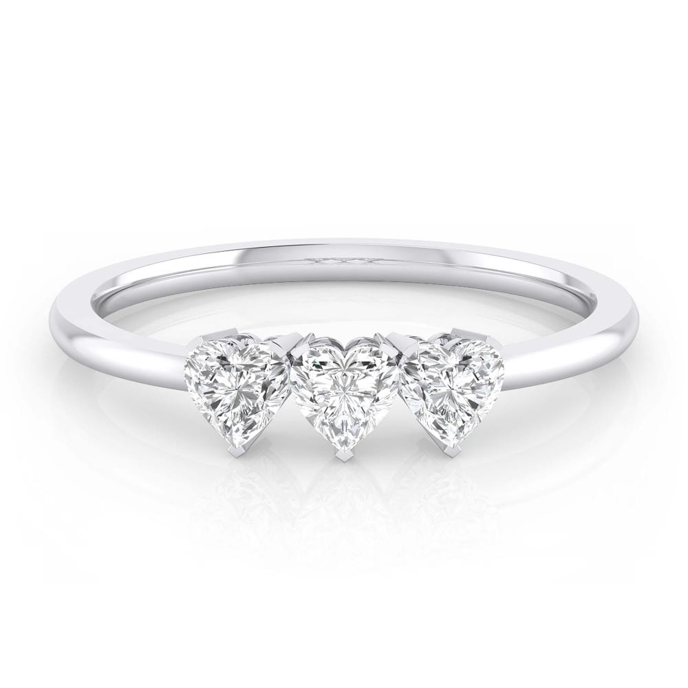 solitarios de compromiso con diamante talla corazón