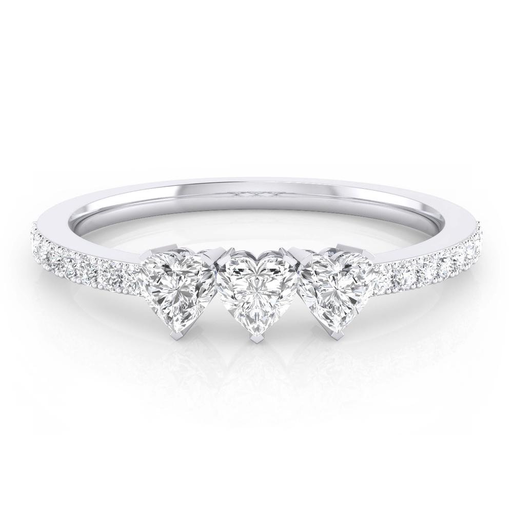 solitario de compromiso con diamante talla corazón