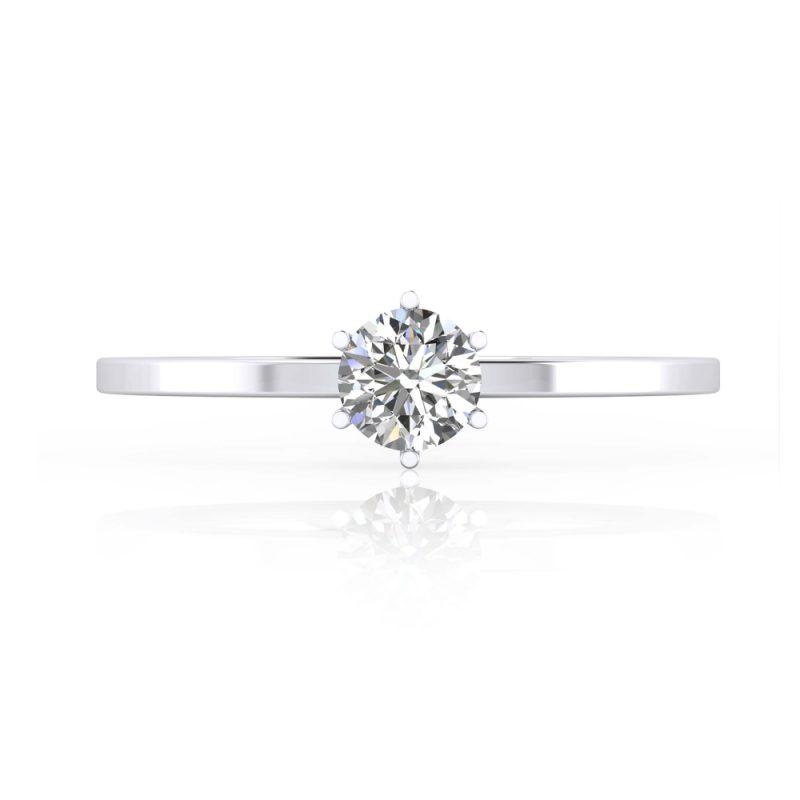 solitarios de compromiso diamante talla brillante