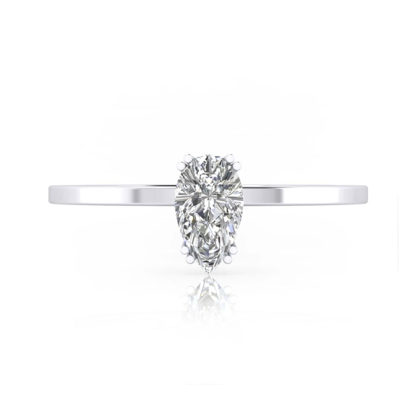 solitarios de compromiso diamante talla pera