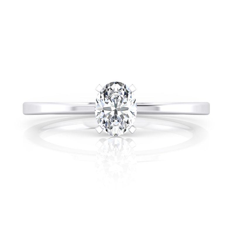 solitarios de compromiso diamante talla oval