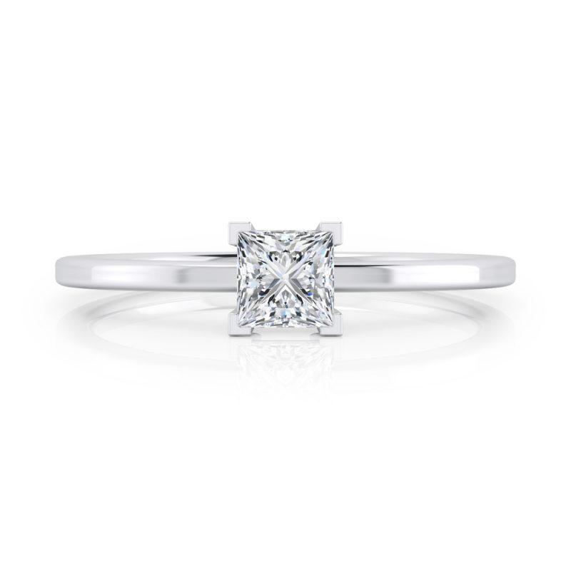 solitarios de compromiso diamante talla princesa