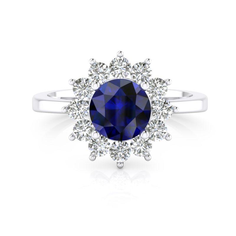 anillo de compromiso con zafiro