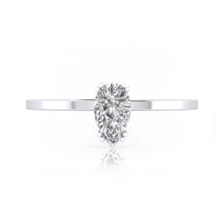 anillos de compromiso talla pera