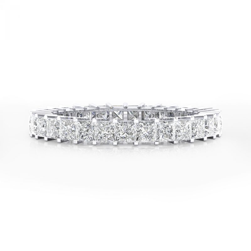 anillos de compromiso estilo alianza de diamantes
