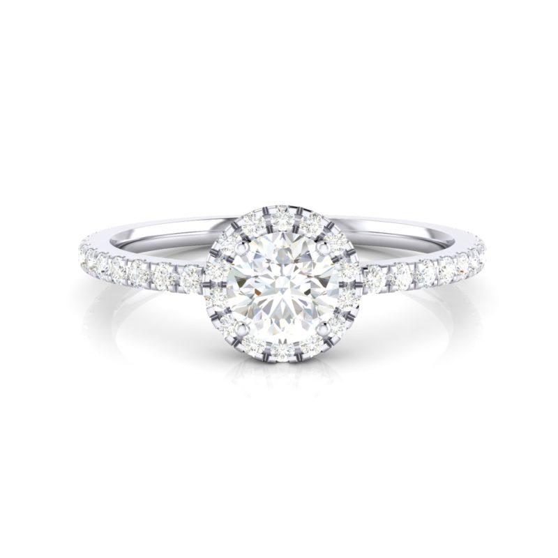 anillos de compromiso halo de diamantes