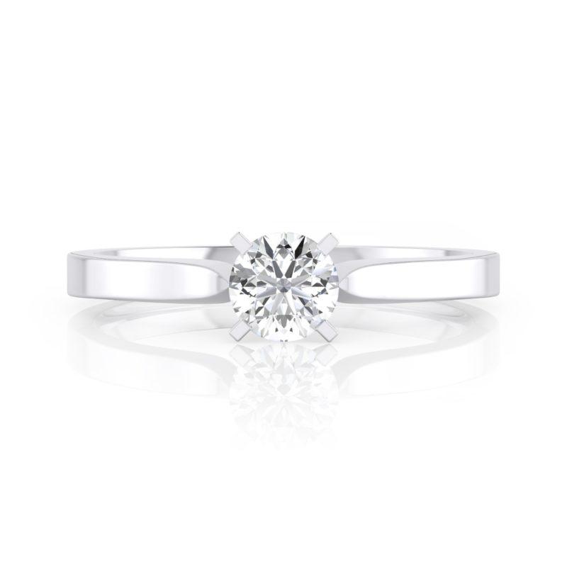 anillo solitario 4 grapas