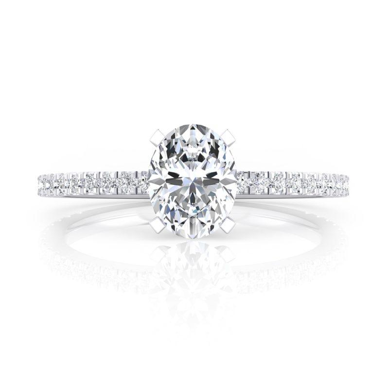 anillo solitario diamante oval