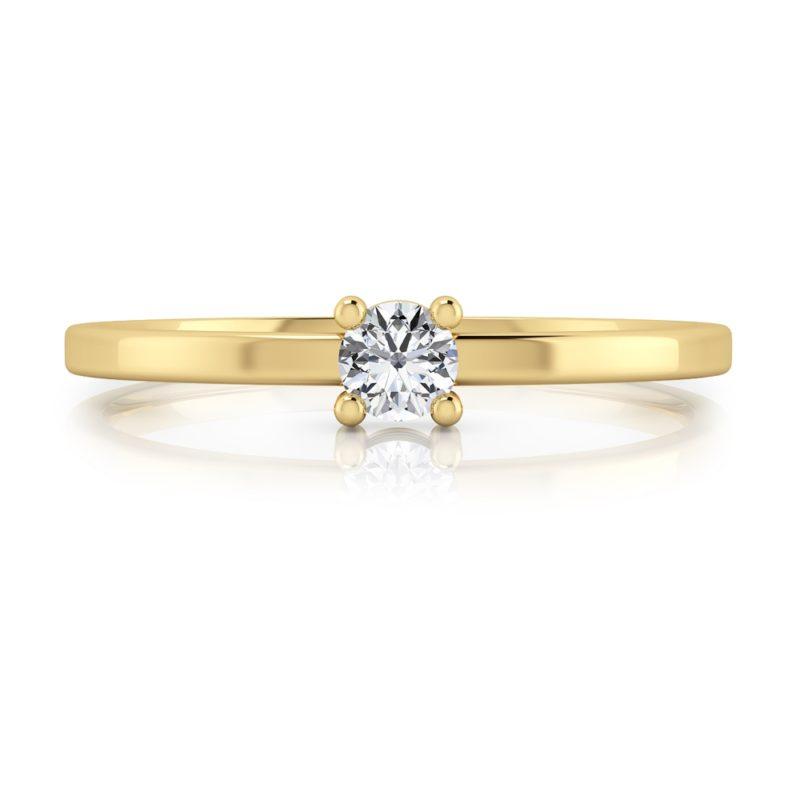 anillo solitario oro amarillo