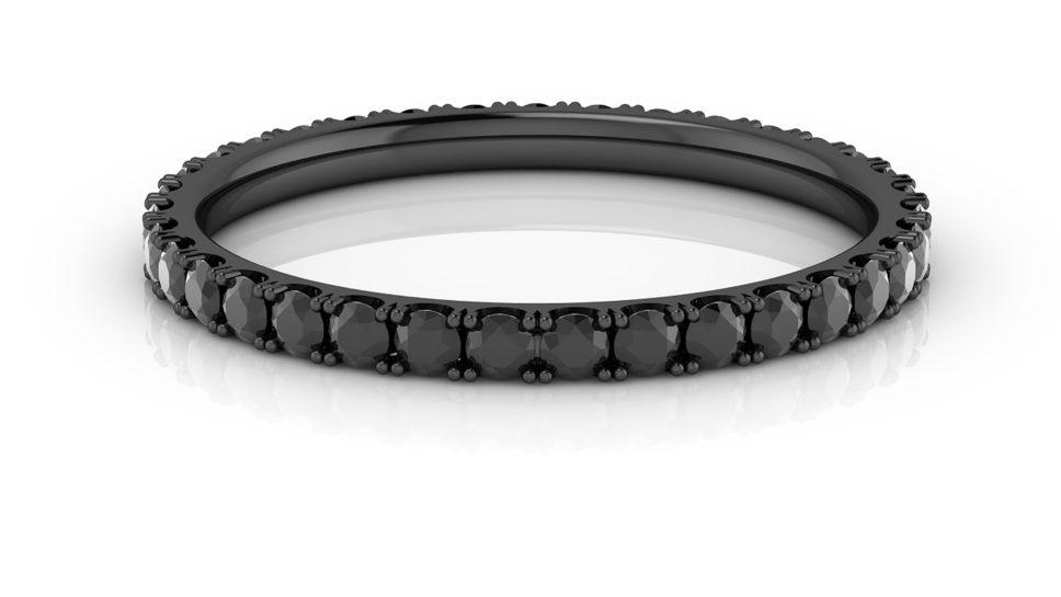 anillos con diamante negro