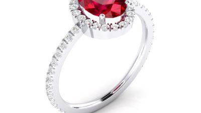 Anillos con rubíes y diamantes: pasión en estado puro