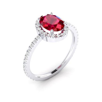 anillos con rubíes y diamantes