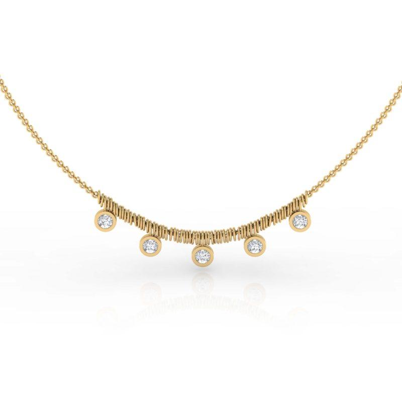 collar de oro amarillo
