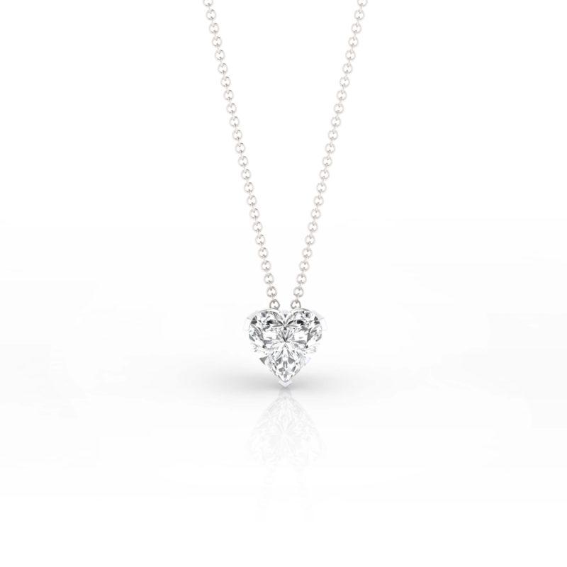 collar diamante corazón