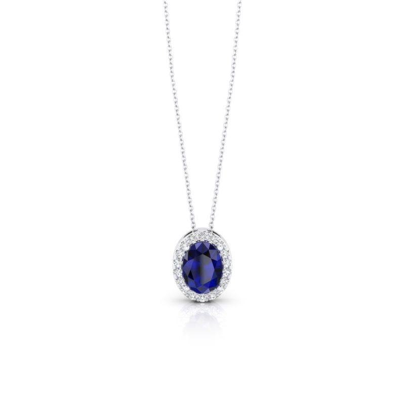 colgante con zafiro y diamantes online