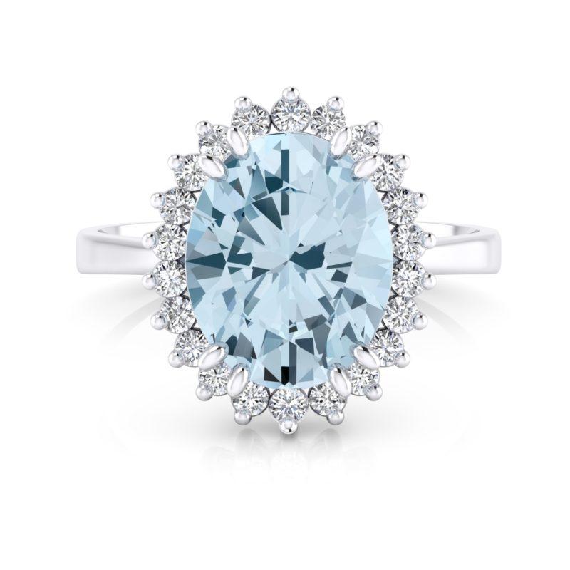joya azul para una novia