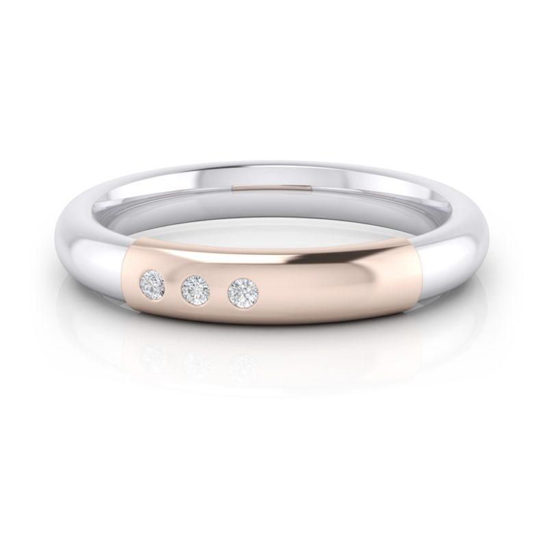 Alianzas de oro rosa con diamantes