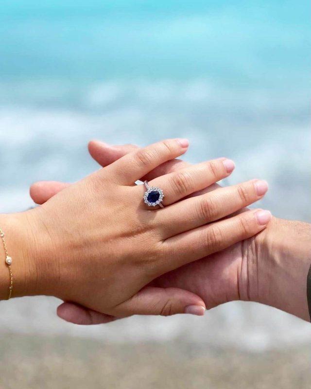 anillo de compromiso zafiro