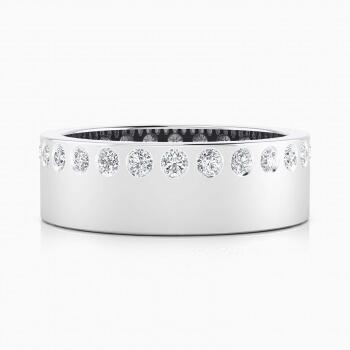 Aliança de Casament or blanc 18k amb 26 diamants