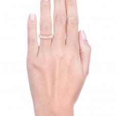 Aliança de casament or rosa amb 68 diamants