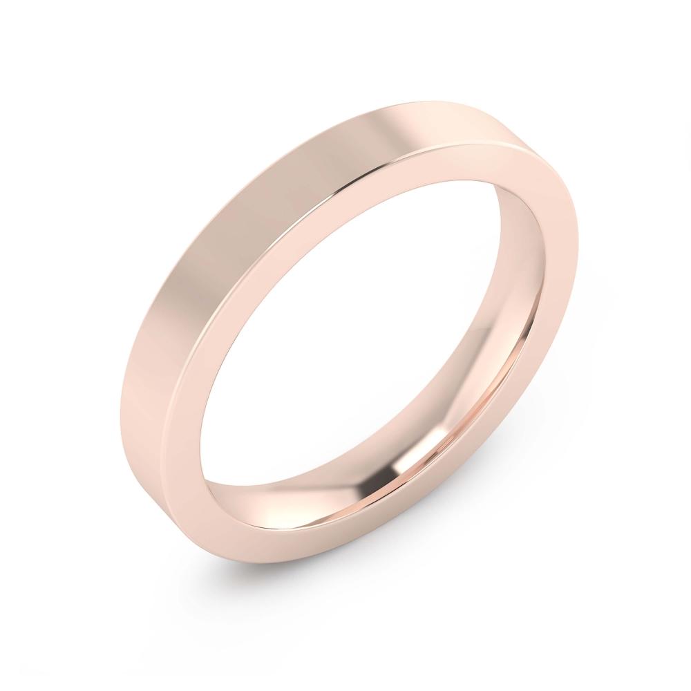 Aliança de Casament or rosa brillant per a home