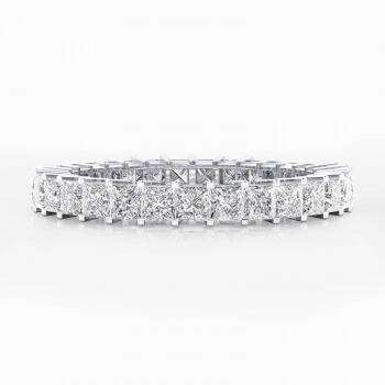Aliances de casament or blanc 18k amb 31 diamants