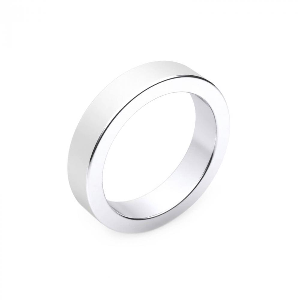 Aliança de Casament per a Home or blanc 18k