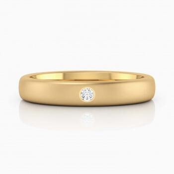 Aliança de casament or groc 1 diamants