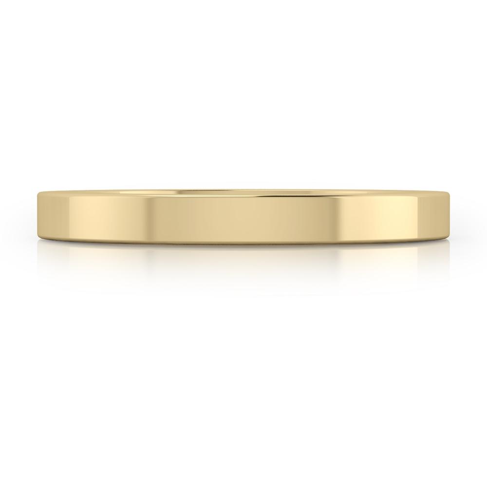 Alianza de matrimonio de oro amarillo de 18k