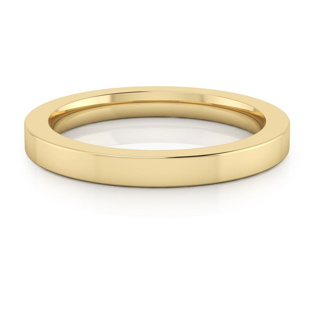 Aliança de boda realitzada en or groc de 18kt amb acabat brillant