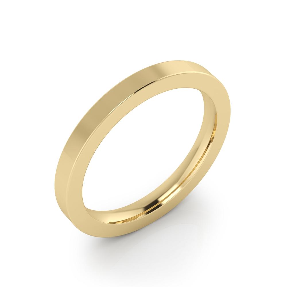 foto de perfil de Alianza de boda de oro amarillo con acabado brillante