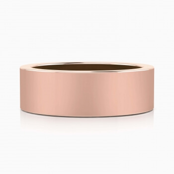 Aliança de Casament per a home or rosa 18k