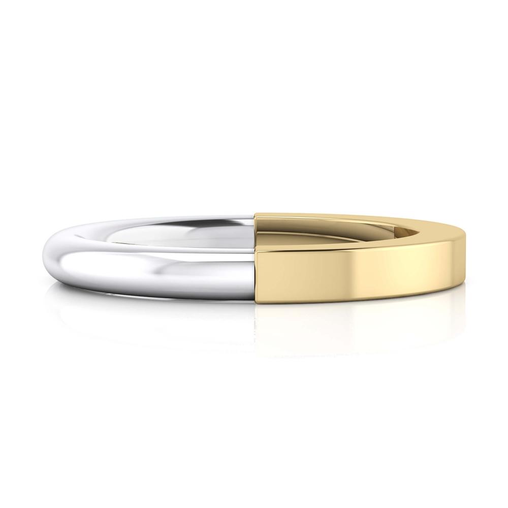 Aliança de casament or groc i blanc 18k brillant