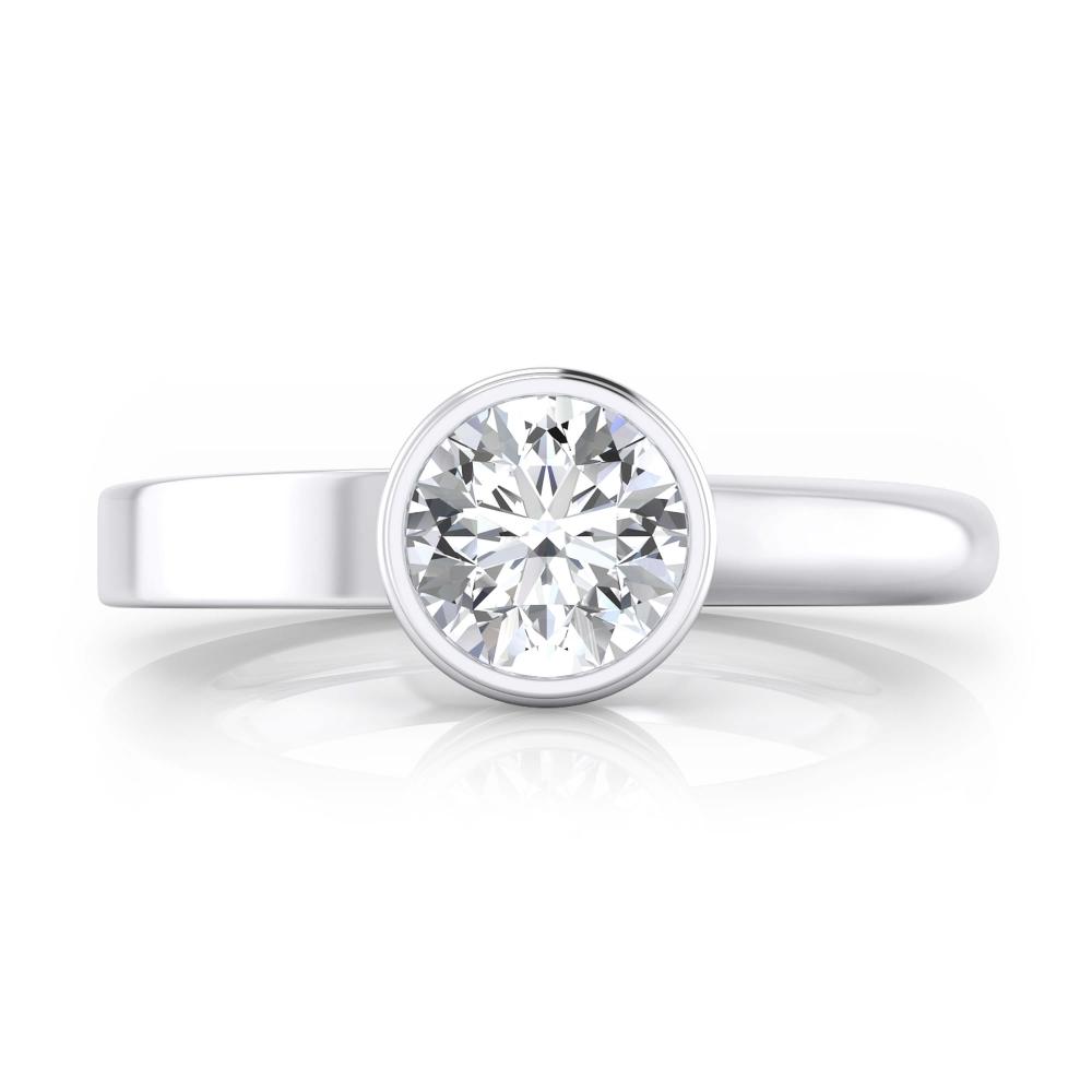 Anillo de compromiso oro blanco y 1 diamante