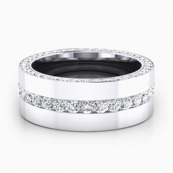 Anells de Compromis en or blanc 18k 113 diamants