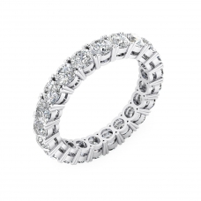 Anells de Compromis or blanc 18k amb diamants exclusius