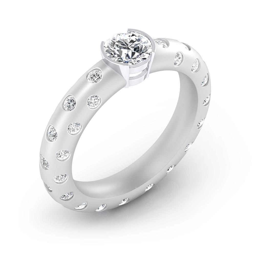 foto de perfil de Anillo de compromiso de oro blanco y 56 diamantes