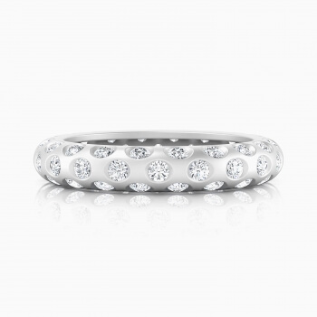 Anells de Compromis or blanc 18k 60 diamants