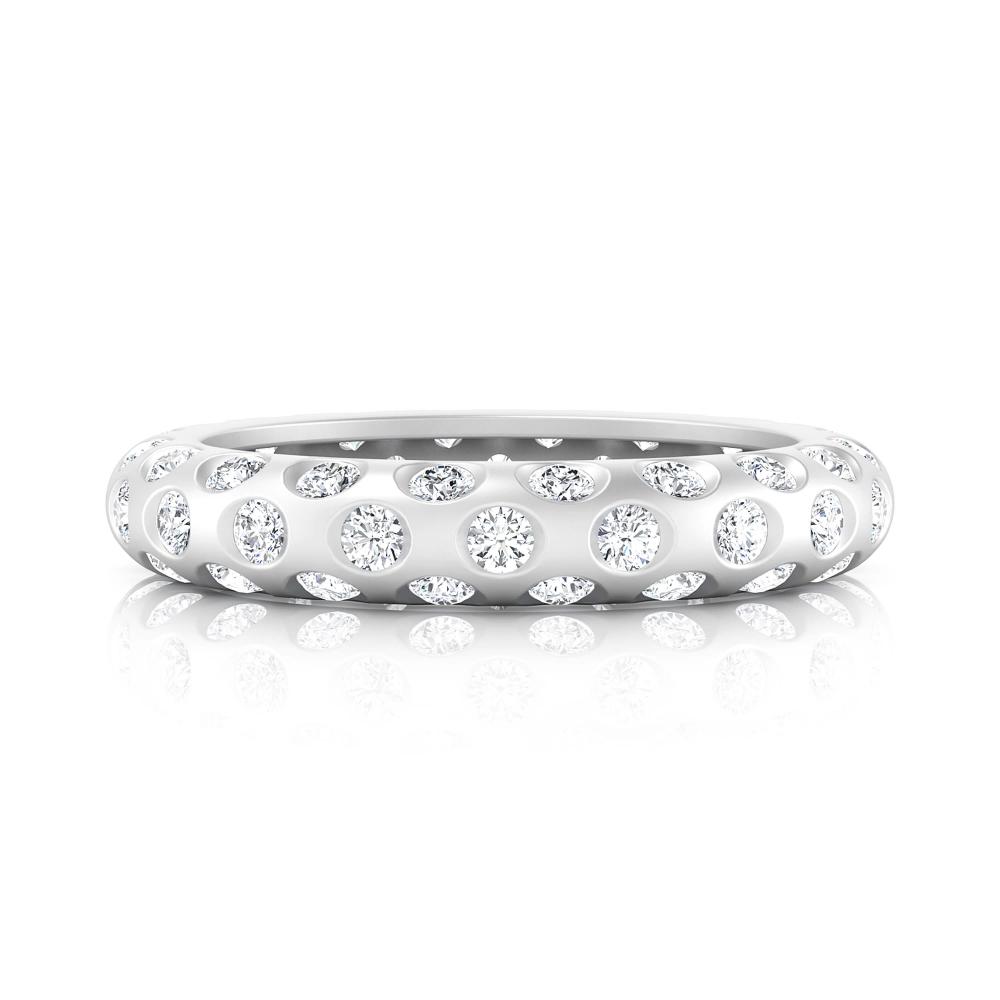 Anells de Compromis or blanc 18k 60 diamants