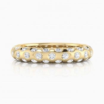 Anells de Compromis en or groc 18k 60 diamants