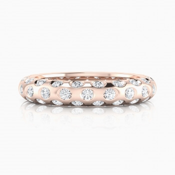Anells de Compromis en or vermell 18k 60 diamants